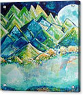 Lake By The Moon Light Acrylic Print