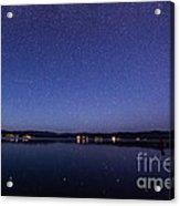 Lake Cascade Idaho By Night Acrylic Print