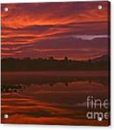 Lake Cassidy Draatic Sunrise Acrylic Print