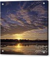 Lake Cassidy With Mount Pilchuck Acrylic Print