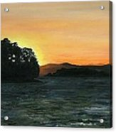 Lake Champlain Adirondack Mountains Vt/ny Acrylic Print