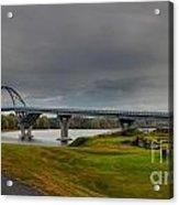Lake Champlain Bridge Panorama From Crown Point Acrylic Print