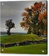 Lake Champlain Crown Point Panorama Acrylic Print