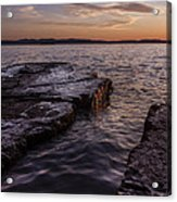 Lake Champlain Sunset Burlington Vermont Oakledge Park Acrylic Print