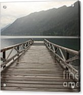 Lake Crescent Dock Acrylic Print