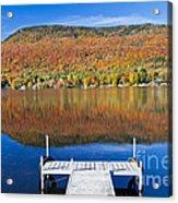Lake Elmore Autumn Acrylic Print