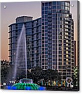 Lake Eola Water Fountain  Acrylic Print