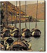 Lake Er Hai Boats Acrylic Print