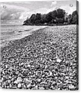 Lake Erie Coast Black And White Acrylic Print