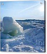 Lake Erie Ice Sunrise Acrylic Print