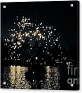 Lake Fireworks Acrylic Print