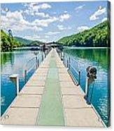 Lake Fontana Boats And Ramp In Great Smoky Mountains Nc Acrylic Print