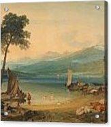 Lake Geneva And Mount Blanc Acrylic Print