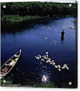 Lake Guiding Sports Fishing Acrylic Print