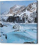 Lake Haiyaha Winter Acrylic Print
