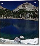 Lake Helen At Mt Lassen Triptych Acrylic Print by Peter Piatt