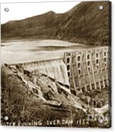 Lake Hodges And Dam San Diego County California  1952 Acrylic Print