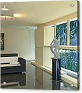 Lake House Living Room View Acrylic Print