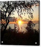 Lake Huron Setting Sun Acrylic Print