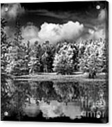 Lake In Black And White One Acrylic Print