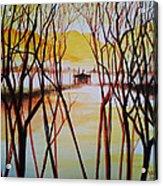 Lake In The Morning Acrylic Print