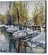 Lake In The Winter Acrylic Print