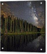 Lake Irene's Milky Way Mirror Acrylic Print by Mike Berenson