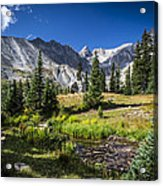 Lake Isbelle Mountains Acrylic Print