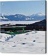 Lake Laberge Yukon Territory Canada In Winter Acrylic Print
