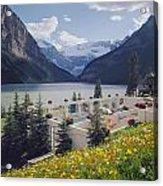 1m3520-h-lake Louise Chateau Acrylic Print