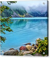 Lake Louise On A Cloudy Day Acrylic Print