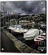 Lake Maggiore Boats 1 Acrylic Print