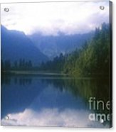 Lake Matheson In New Zealand's Westland National Park Acrylic Print