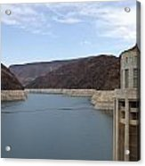 Lake Mead Seen From The Hoover Dam Acrylic Print