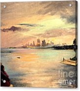 Lake Michigan Chicago Skyline 1952 Acrylic Print