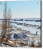 Lake Michigan In Ice Acrylic Print