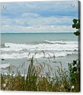 Lake Michigan In Racine Acrylic Print