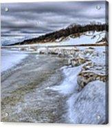 Lake Michigan Shelf Ice Acrylic Print