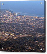 Lake Michigan Shoreline - Downtown Milwaukee  Acrylic Print