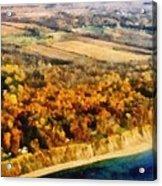 Lake Michigan Shoreline In Autumn Acrylic Print