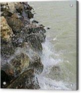 Lake Michigan Splash Acrylic Print