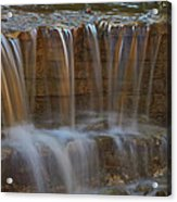 Lake Park Waterfall Acrylic Print
