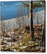 Lake Partly Covered With Ice In Early Spring Acrylic Print