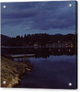 Lake Placid At Night Acrylic Print
