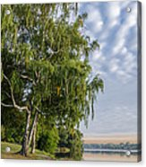 Lake Quannapowitt In Massachusetts  Acrylic Print by Pat Lucas