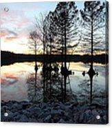 Lake Reflections At Sunset Acrylic Print