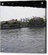 Lake Resort Framed From A Houseboat Acrylic Print