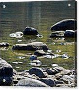 Lake Rocks Acrylic Print