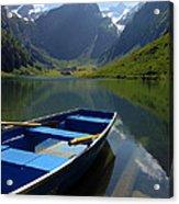 Lake Seealpsee Alpstein Canton Appenzell Switzerland Acrylic Print
