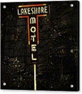 Lake Shore Motel Acrylic Print